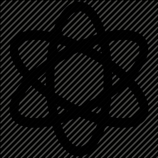 Atom, Atomic Nucleus, Electrons, Physics Atom Icon