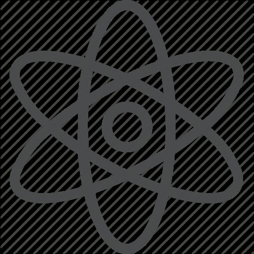 Atom, Nucleus, Science, Technology Icon