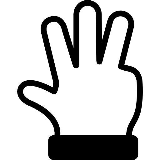 Hand Showing Number Four Gesture Icons Free Download