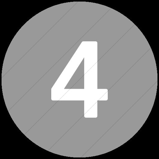 Flat Circle White On Light Gray Alphanumerics Number Icon