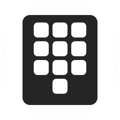 Numeric Keypad Icon Iconexperience