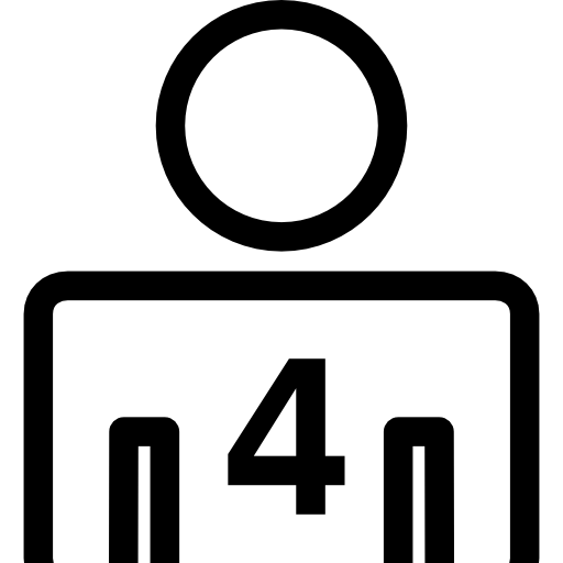 Four Persons Or Person Number Symbol