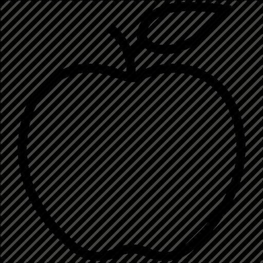 Apple, Education, Fitness, Food, Fruit, Health, Nutrition Icon