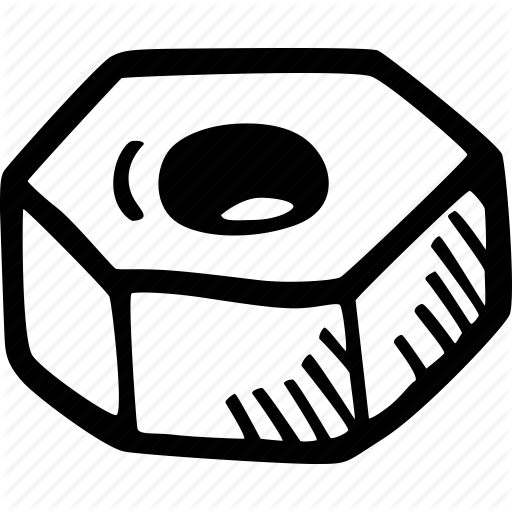 And Figure Nut Bolt Icon