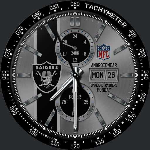 Sports Oakland Raiders Nfl Modular Racer Watchfaces For Smart