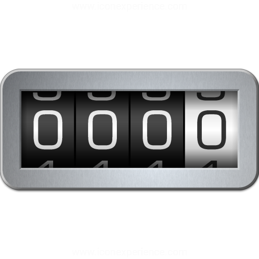 Iconexperience V Collection Odometer Icon