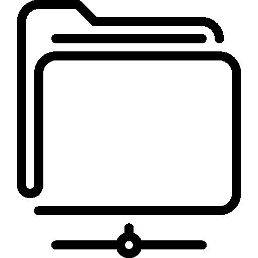 Folder Flat Black Icon