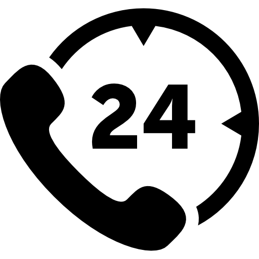 Hours Phone Service Icons Free Download