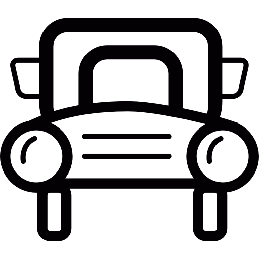 Car Of Retro Style Front Icons Free Download