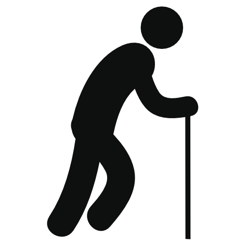 Old Man With Cane Free Vector Icons Designed