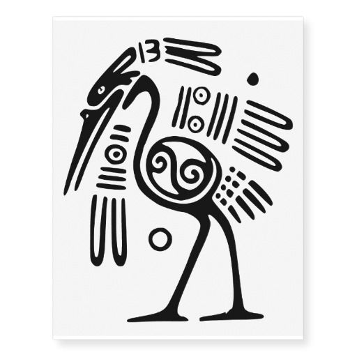 Ancient Pre Columbian Bird Motif