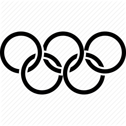 Olympic Games In Black And White Logo Png Images
