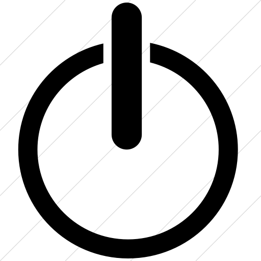 Simple Black Classica Power On Off Icon