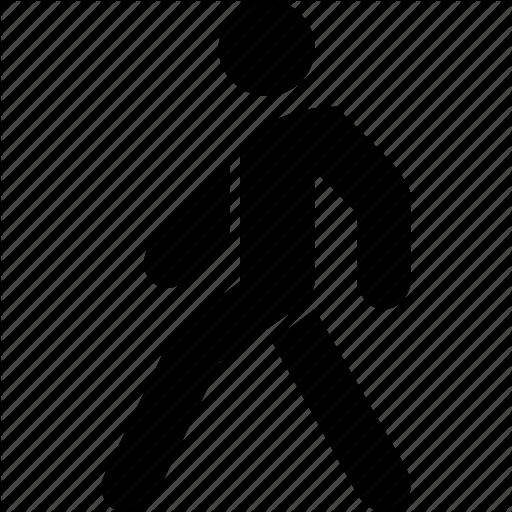 Back, Go, Walk, Walking Icon
