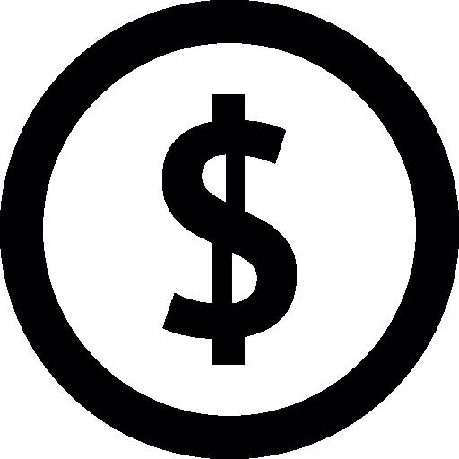 Dollar Symbol Inside A Circle
