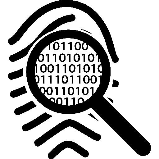 Viewing A Fingerprint Mark Like Binary Code
