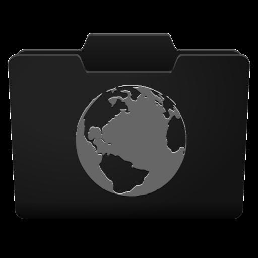Black Grey Internet Icon