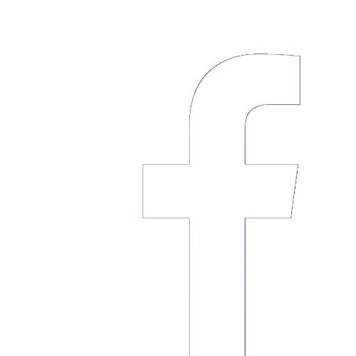 Facebook Vector White Icon Transparent Background