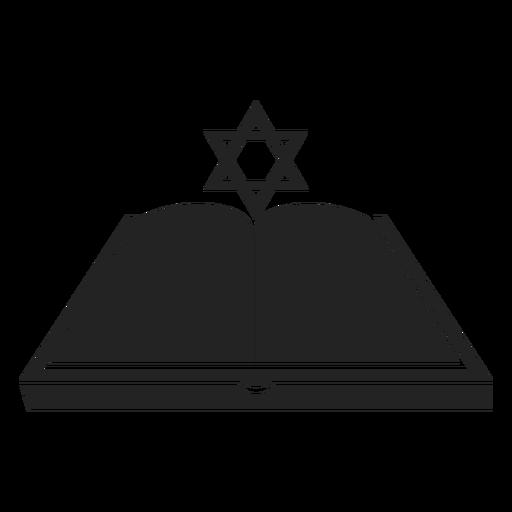 Hanukkah Open Book Icon
