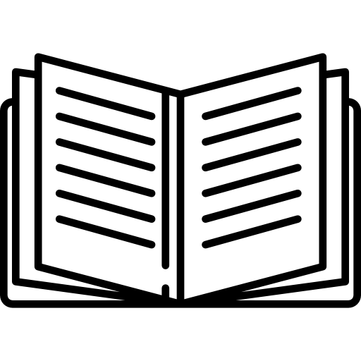 Open Book With Text Lines Icons Free Download