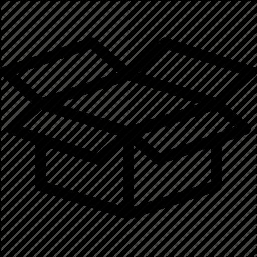 Box, Delivery, Dropbox, Open Box Icon