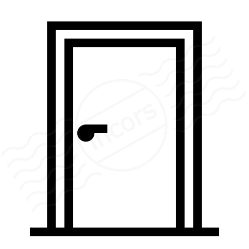 Iconexperience I Collection Door Closed Icon