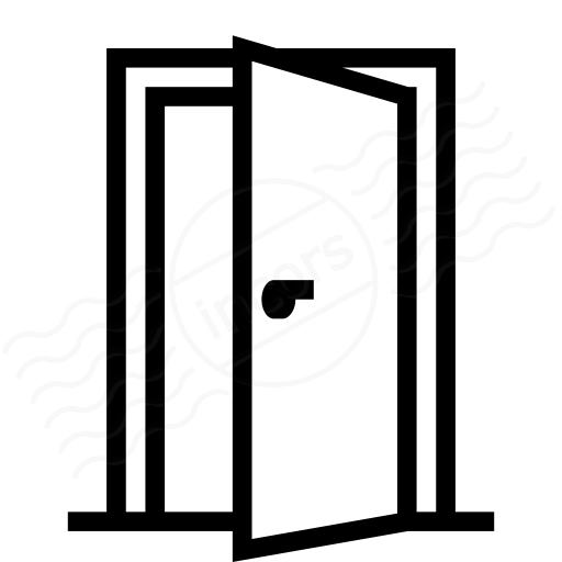 Iconexperience I Collection Door Open Icon