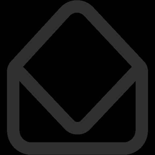 Mail Open Icon Mono General Iconset Custom Icon Design