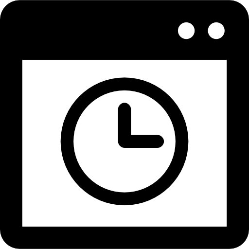 Open Window With Timer Icons Free Download