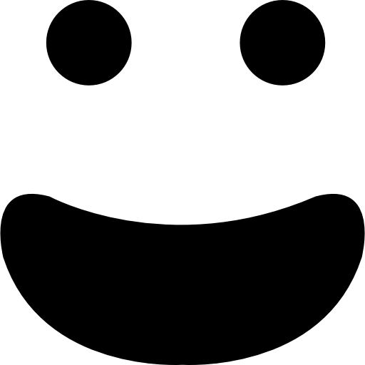 Happy Smiling Emoticon Face With Open Mouth Icons Free Download