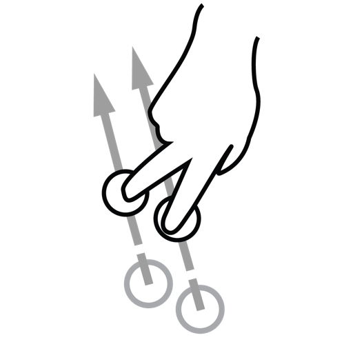 Finger, Gestureworks, Swipe, Two Icon