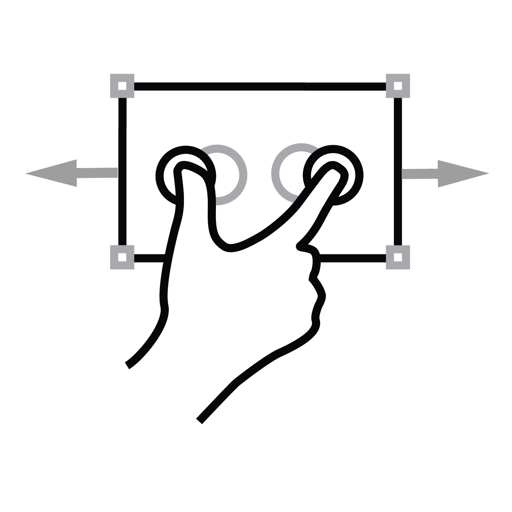 Two, Finger, Gestureworks, Scale Icon