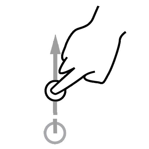 Finger, Gestureworks, One, Swipe Icon