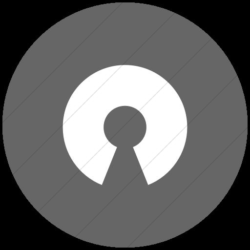 Flat Circle White On Gray Raphael Opensource Icon