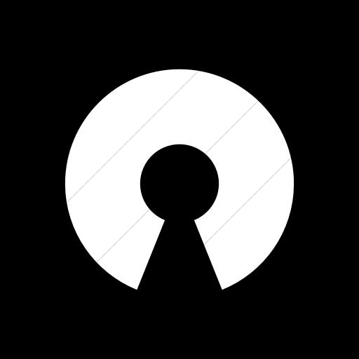 Flat Rounded Square White On Black Raphael Opensource Icon