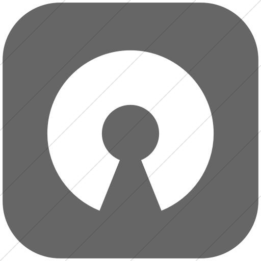 Flat Rounded Square White On Gray Raphael Opensource Icon