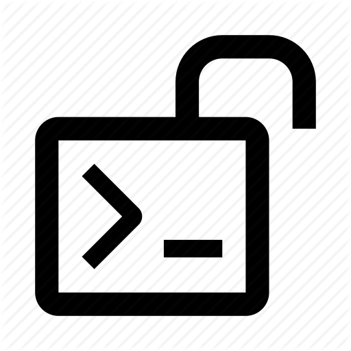 Code, Coding, Open, Source, Terminal, Unlock Icon