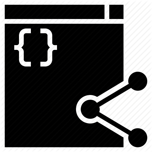 Code Sharing, Github, Open Source, Programming, Sharing Code Icon