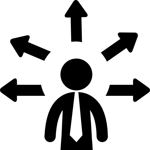 Businessman With Multiple Options Icons Free Download