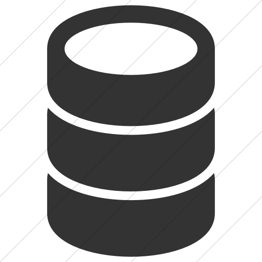 Simple Dark Gray Raphael Database Icon