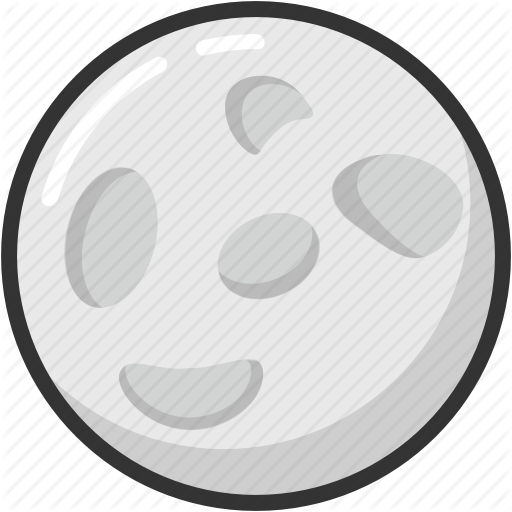 Moon, Orb, Planet, Satellite, Universe Icon