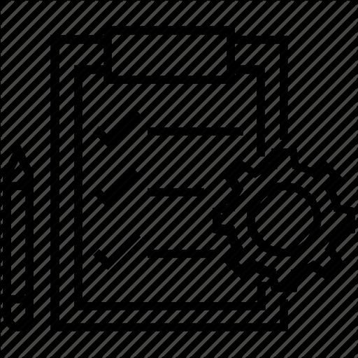 Checklist, Clipboard, Cog, Order, Order Processing Icon