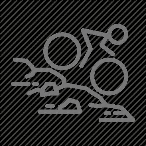 Bike, Cycle, Downhill, Mountain, Trail Icon