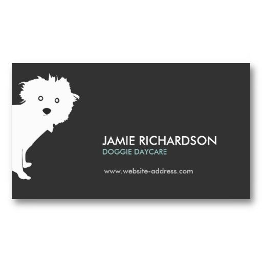 Cute Pup Business Card Graphics Print