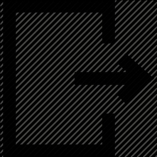 Arrow, Door, Exit, Logout, Out Icon