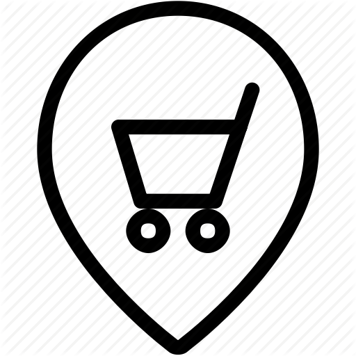 Cart, Gps, Map, Maps, Navigation, Pin, Shopping, Style, Two Icon