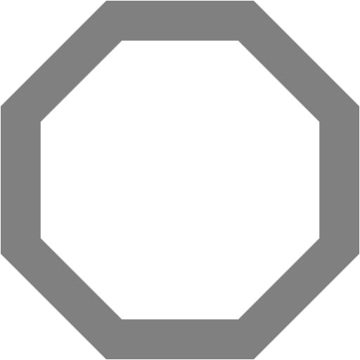 Gray Octagon Outline Icon