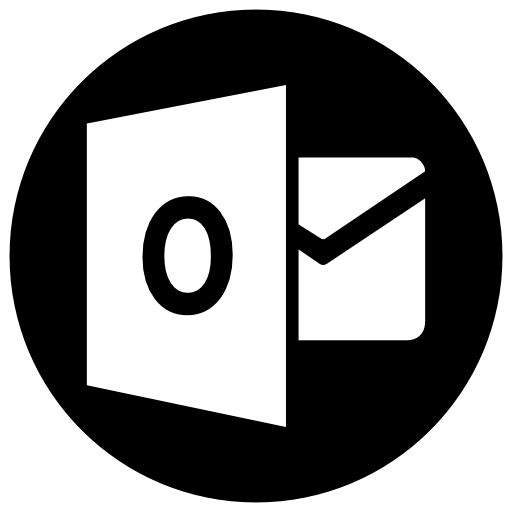 Outlook Icon Free Of Address Book Providers In Black White Icons