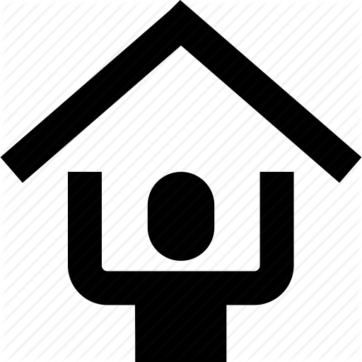 Finance, Head, Human, Over, Person, Roof, Security Icon