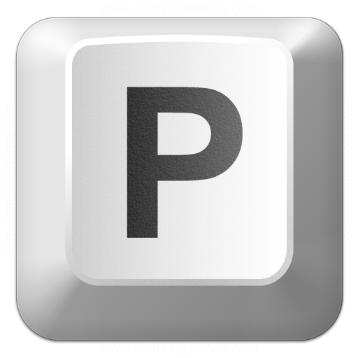 Iconexperience V Collection Keyboard Key P Icon